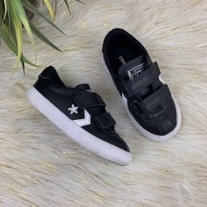 Black Leather Converse Toddler Boys Size 7c